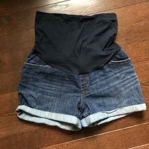 Maternity Over the Belly Jean shorts